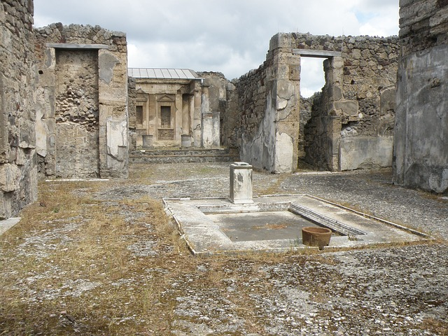 Ruins at Pompeii in Campania, Italy