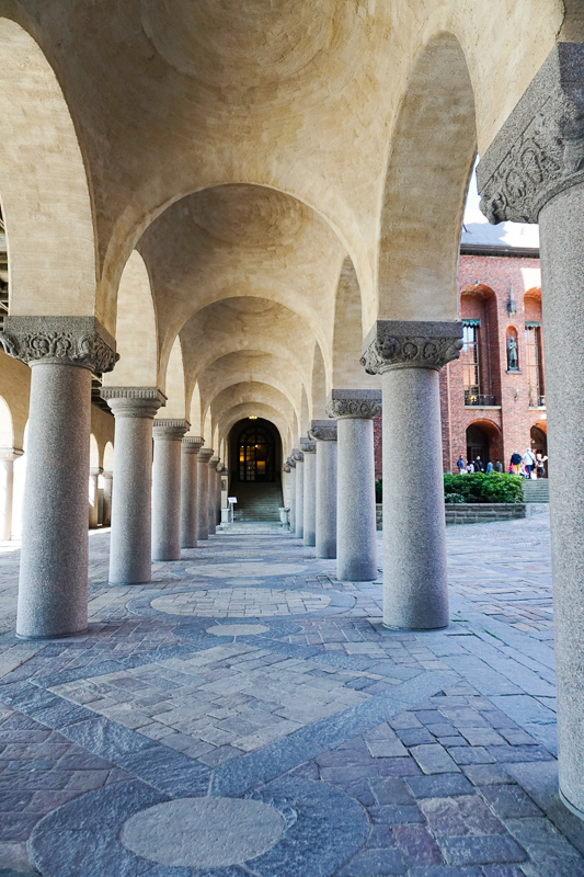 Arches at Stockholm City Hall