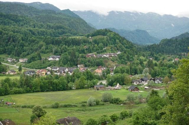 Beautiful views from Radovljica in Slovenia