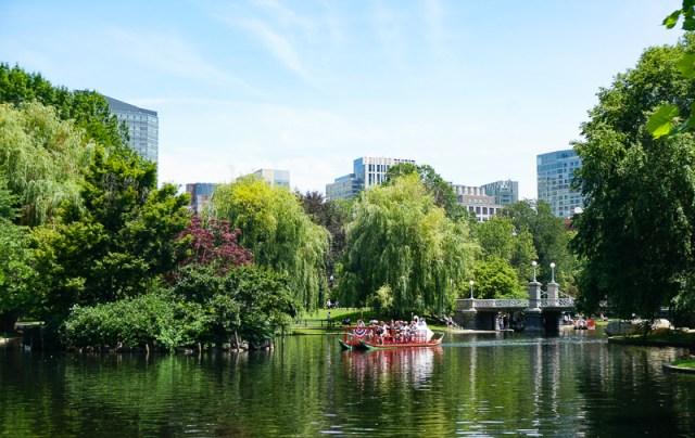 Boston Public Garden Boston Massachusetts USA