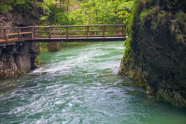 Bridge Vintgar Gorge Bled Slovenia