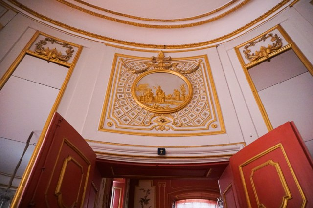 The Red Room in the Chinese Pavilion Drottningholm Palace Stockholm Sweden
