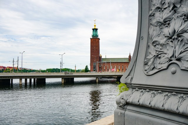 Stockholm City Hall from across the water