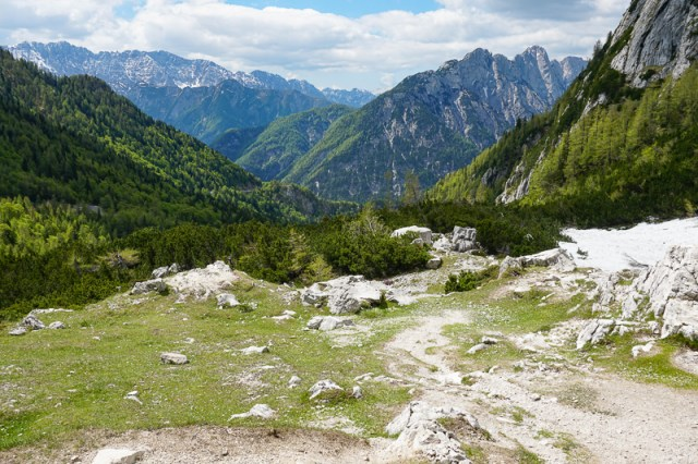 View from Vrsic Pass Slovenia