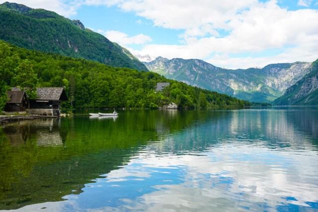Lake Bohinj in Triglav NP Slovenia