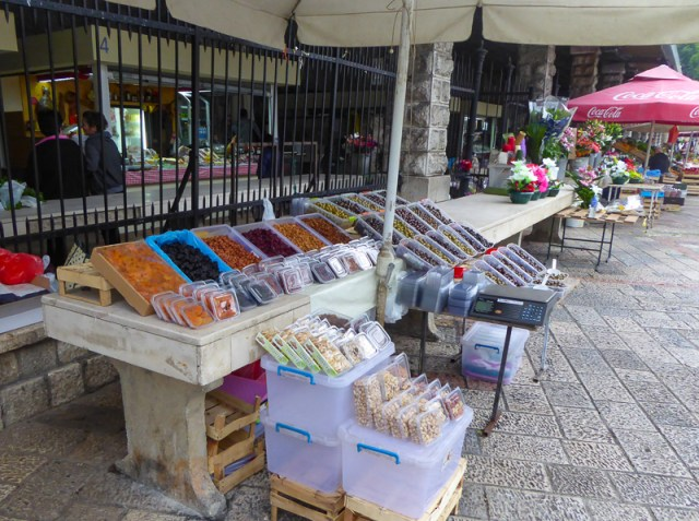 Stall at Green Market in Kotor