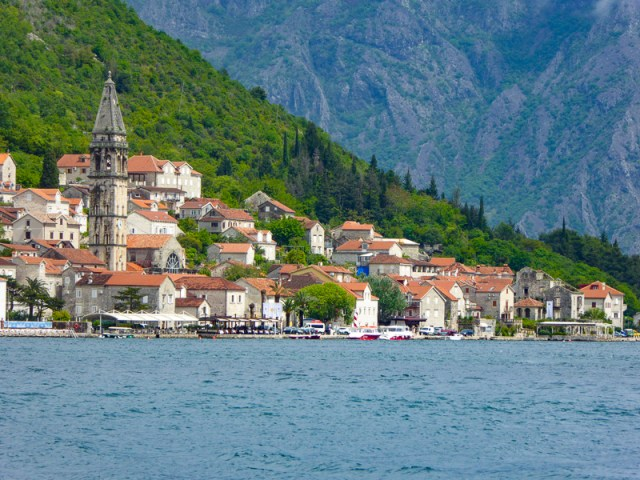 The pretty town of Perast in Montenegro