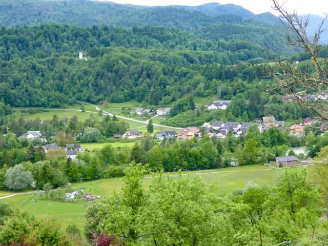 View from Radovljica Slovenia