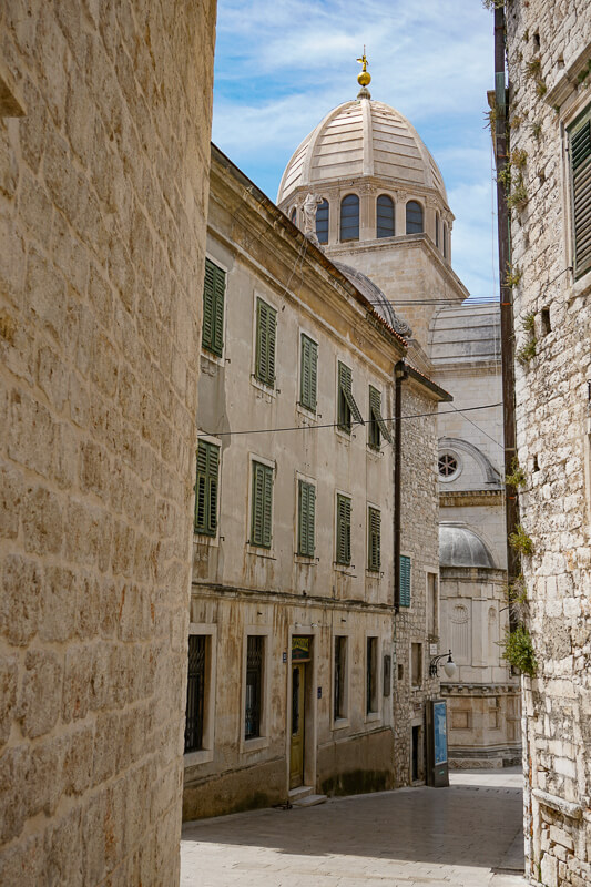 The historic city of Sibenik makes for a great day trip from Zadar, Croatia.