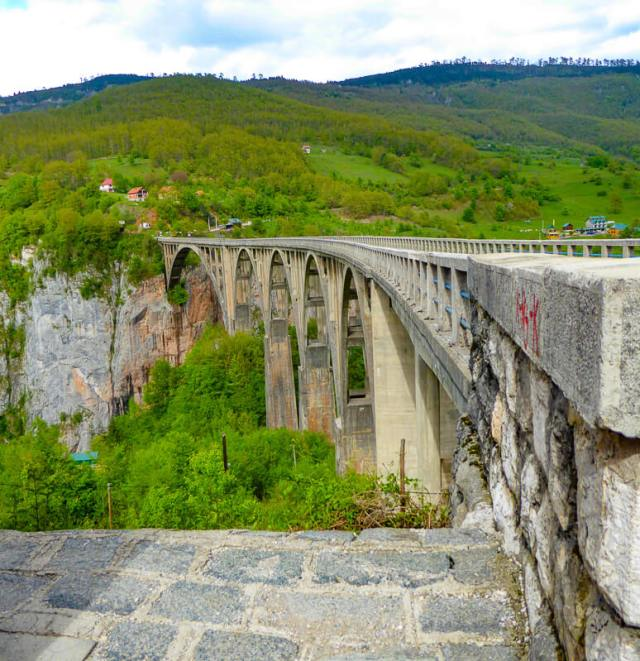 Tara Bridge from Viewpoint in Montenegro