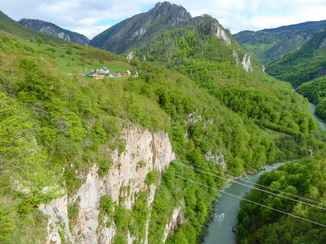 Ziplining over the Tara Canyon in Montenegro
