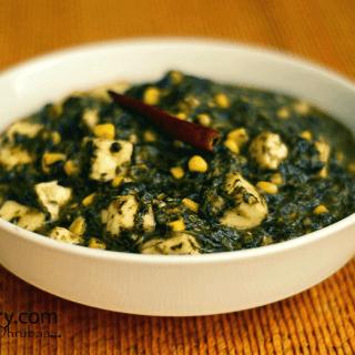 Palak paneer with corn recipe