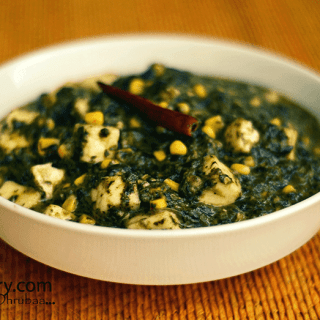 Palak paneer with corn recipe