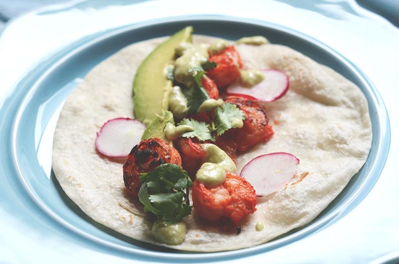Best tandoori shrimp taco recipe