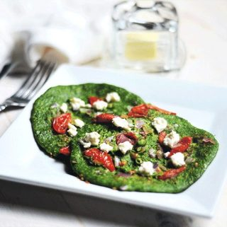 Oatmeal pancake with spinach diabetes and weight loss recipe