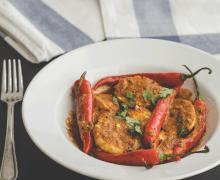 Indian achari egg curry