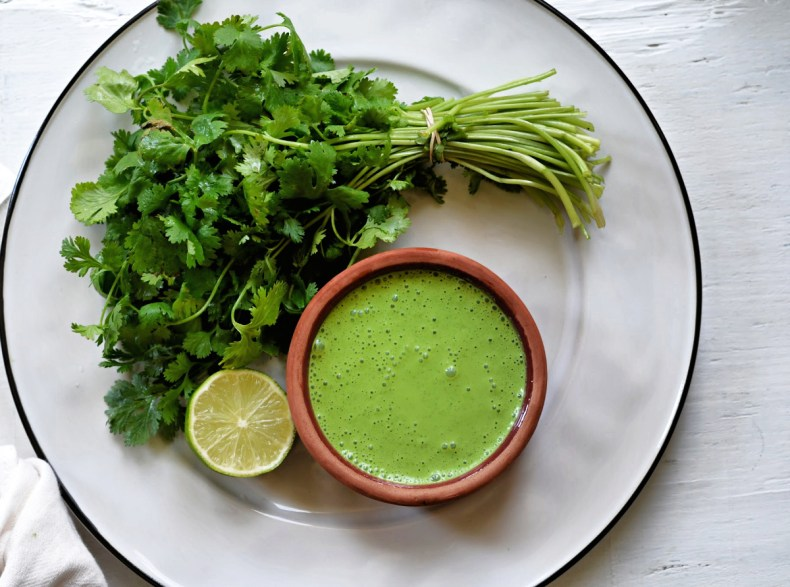 Restaurant Style Indian coriander chutney