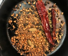 Ground spices for goat curry
