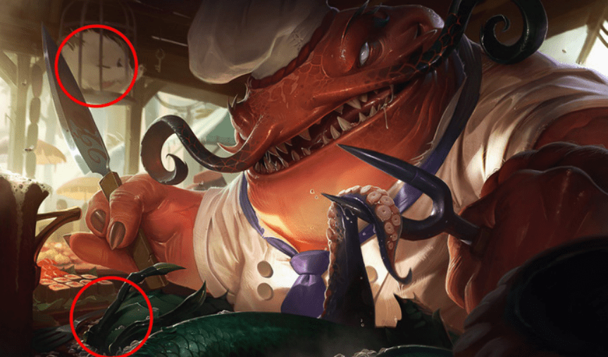 Easter eggs behind League of Legends splash arts that you might have missed. 8