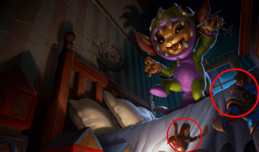 Easter eggs behind League of Legends splash arts that you might have missed. 10