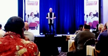 Terry Lamb on Stage at The Home Business Summit in Irvine