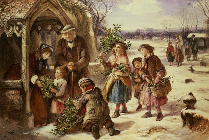 """Christmas Morning"" by Thomas Falcon Marshall."