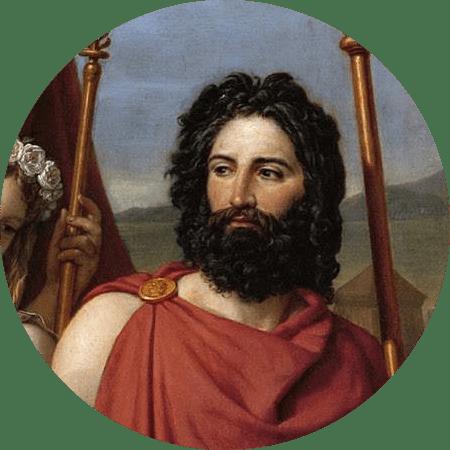 King Menelaus of Mycenaean