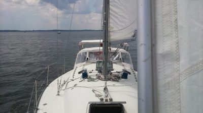 Sailing on a C&C 36 Sailboat