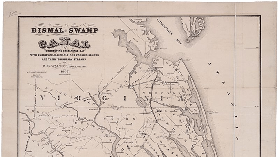 Search for the Center of the Great Dismal Swamp