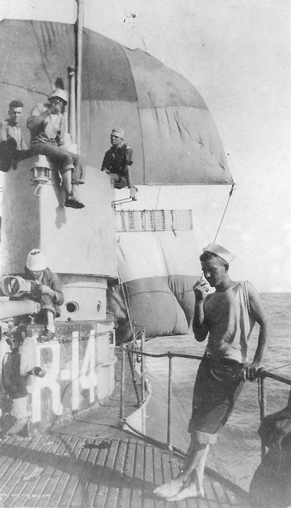 USS R-14 under sail