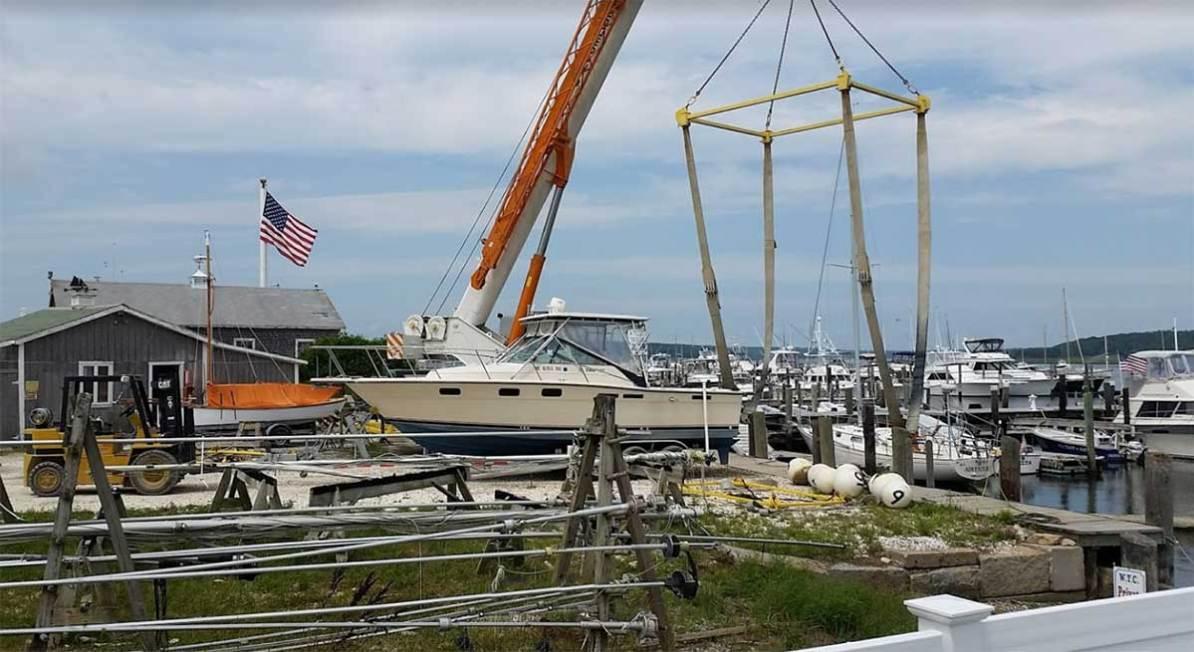 F.L. Tripp & Sons is a working marina.