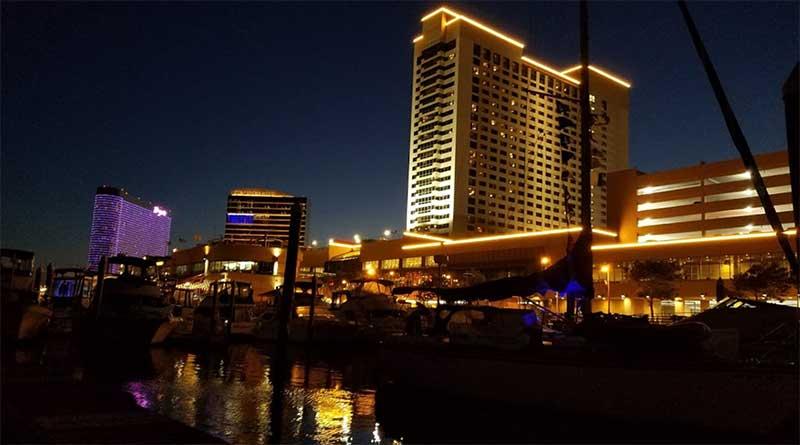 Farley State Marina at Golden Nugget Casino & Hotel at Night