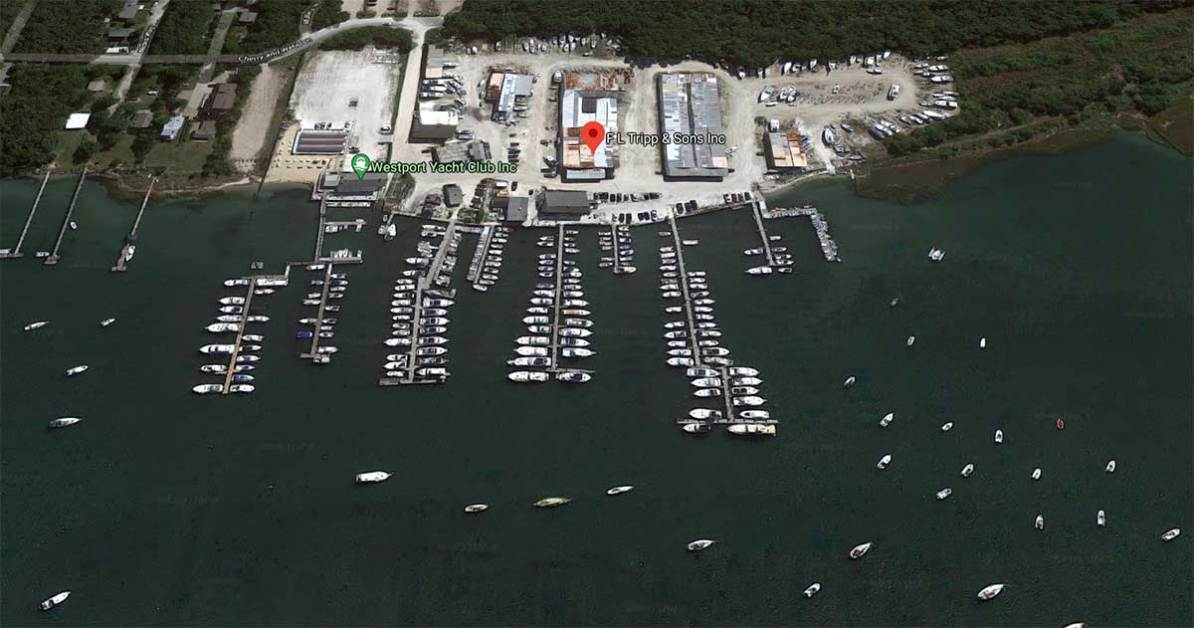 Satellite View of F.L. Tripp & Sons Marina.