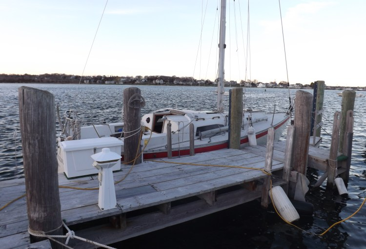 Argo docked at F.L.Tripp & Sons for Boom Repairs