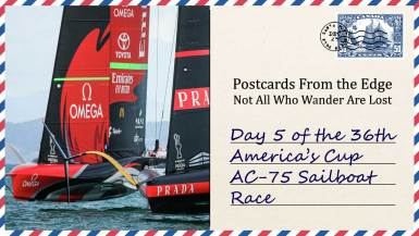 Day 5 of the 36th America's Cup AC-75 Sailboat Race