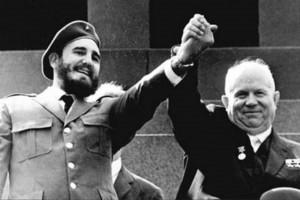 Fidel Castro y  Nikita Jruschev
