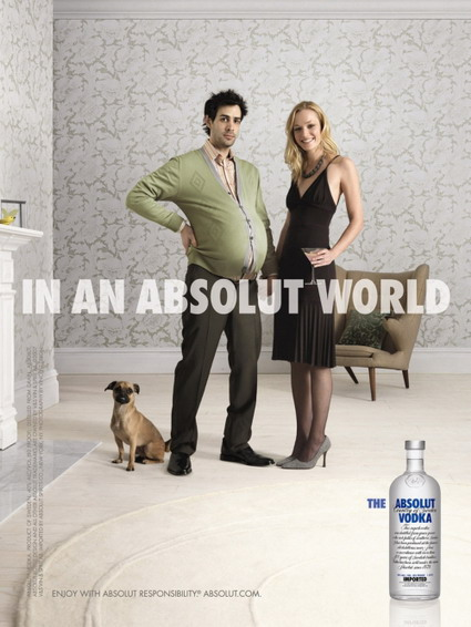 Absolut Vodka Pregnant Ad