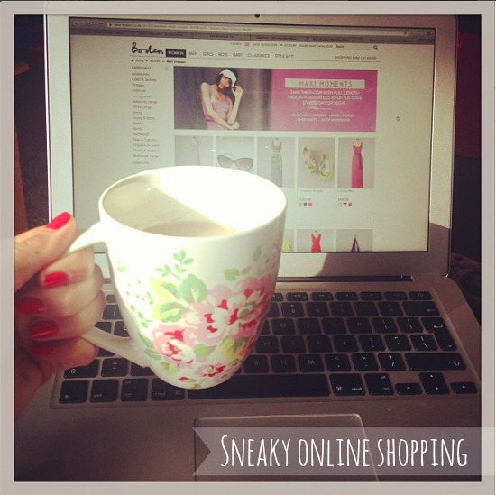 Shopping online at Boden