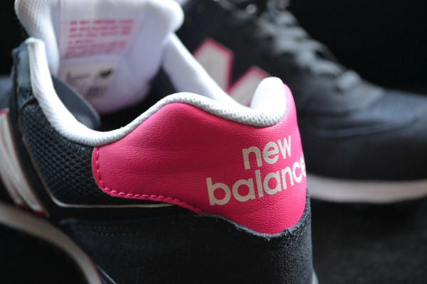 Close up of New Balance Trainers