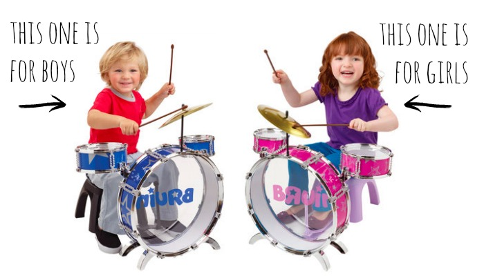 Boys and girls drum kit