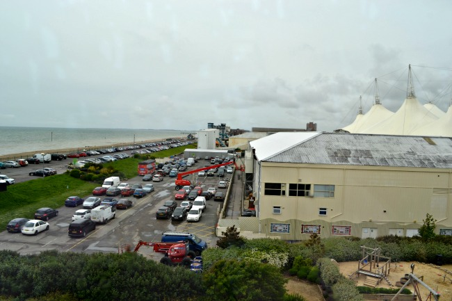 The View from our room at Butlins Shoreline Hotel