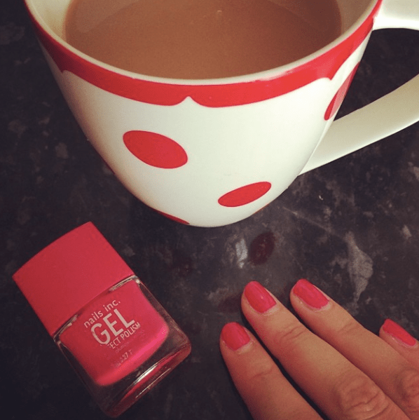 Painting my nails red