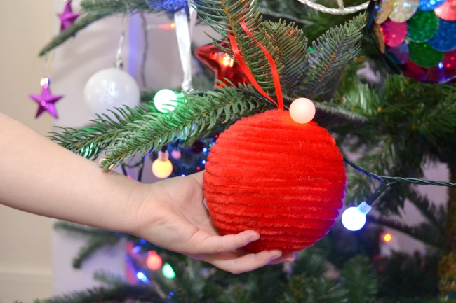 red-chenille-bauble