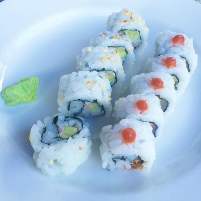 Sushi at Bayside restaurant, Beaches Turks and Caicos
