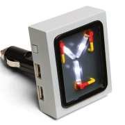 Thinkgeek Flux Capacitor USB Charger Review! - Back to the Future GREAT SCOTT!!!