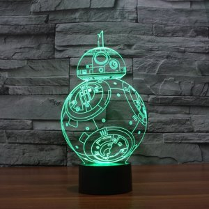 Colorful Star Wars Night Lights - 1