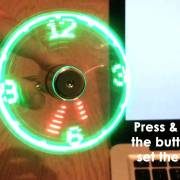 USB LED Fan Clock from Vodcart