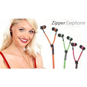 Zipper Style Tangle Free Headphones For Mobile Phone - 5