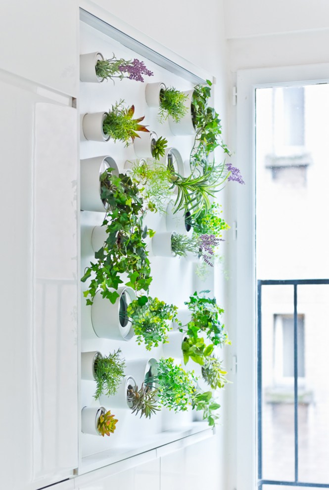 Vertical Garden Grows In This Parisian Apartment Of A Young Fashion Designer