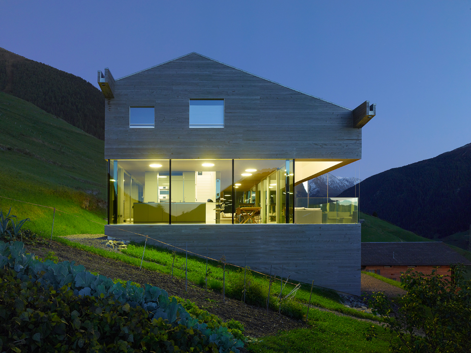 Low-energy Consumption House In Swiss Alps By Savioz
